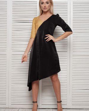 Шелковое платье мини Leleya