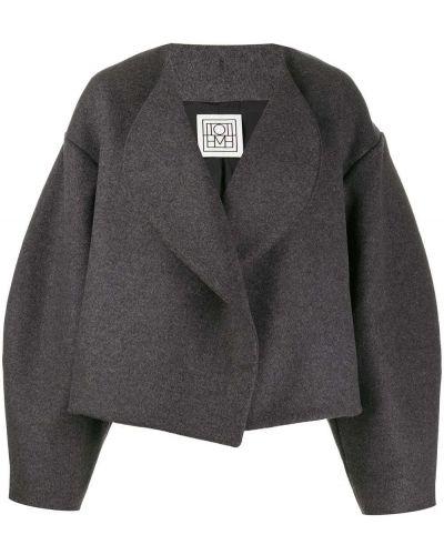 Темно-синяя длинная куртка Toteme
