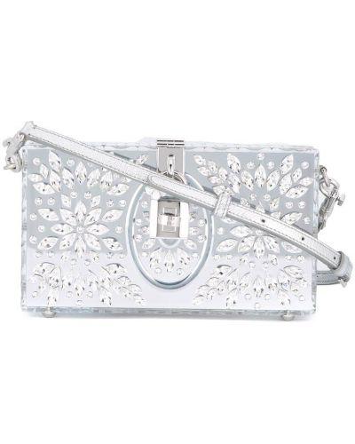 Серый кожаный футляр для очков с подкладкой Dolce & Gabbana