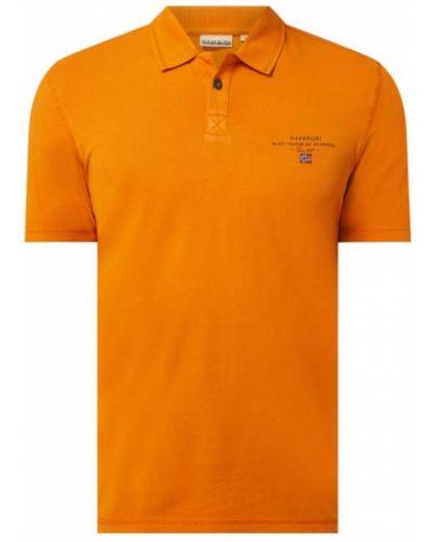 Pomarańczowy t-shirt bawełniany Napapijri