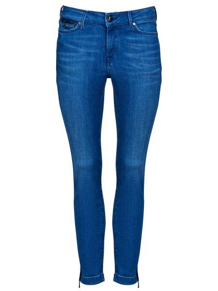 Хлопковые синие джинсы на молнии Bogner
