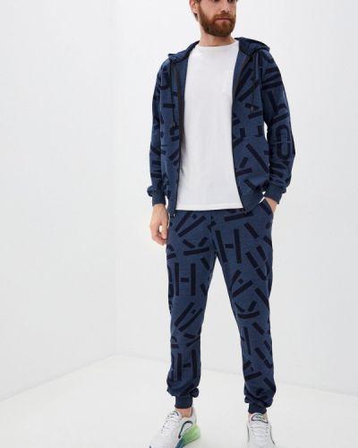 Синий костюмный спортивный костюм Blacksi