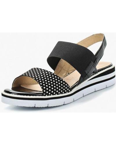 Черные сандалии замшевые Caprice