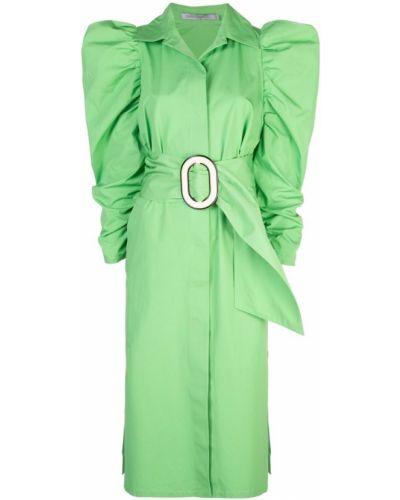 Платье макси на пуговицах с американской проймой Silvia Tcherassi