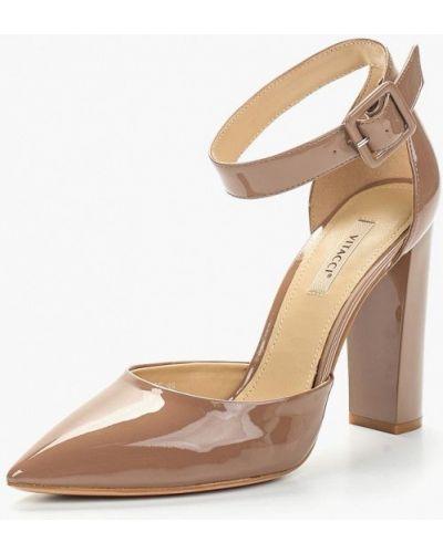 Кожаные туфли с застежкой на лодыжке на каблуке Vitacci