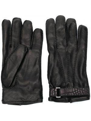 Z paskiem czarny rękawiczki za pełne Ermenegildo Zegna