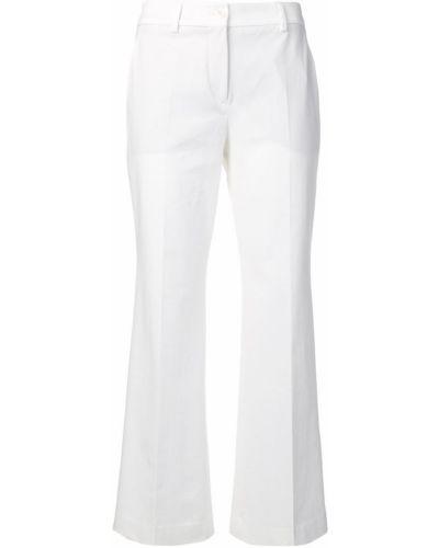Расклешенные укороченные джинсы с поясом на пуговицах Incotex