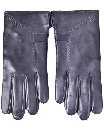 Кожаные перчатки шерстяные черные Parola