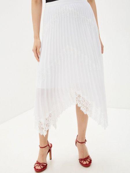 Плиссированная юбка белая весенняя Marciano Los Angeles