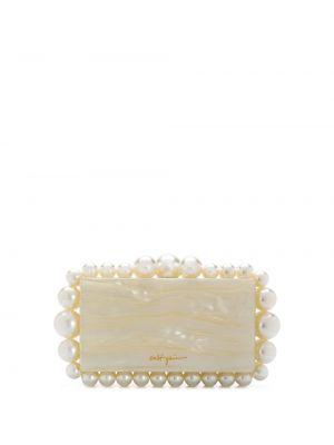 Beżowa kopertówka z akrylu perły Cult Gaia