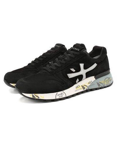 Кожаные черные кроссовки с подкладкой Premiata