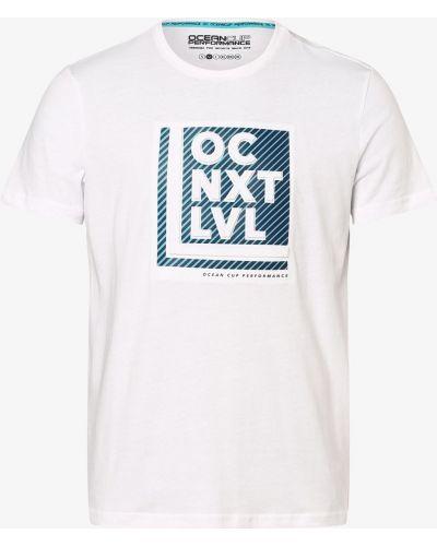 Biały t-shirt z printem Ocean Cup
