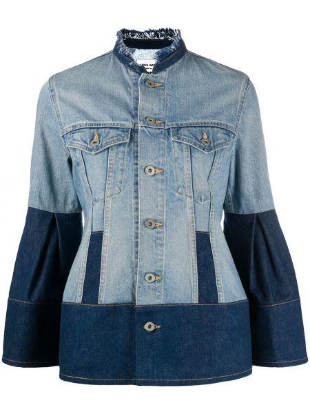 С рукавами синяя джинсовая куртка с воротником Junya Watanabe