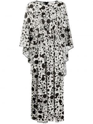 С рукавами белое платье макси из вискозы La Doublej