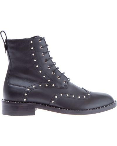 Кожаные ботинки милитари на каблуке высокие Jimmy Choo