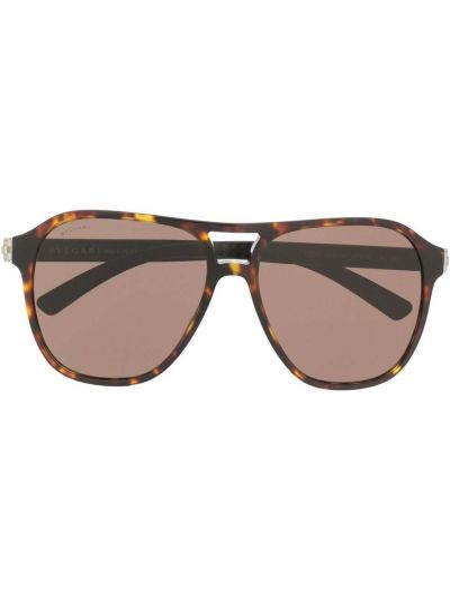 Коричневые солнцезащитные очки Bvlgari
