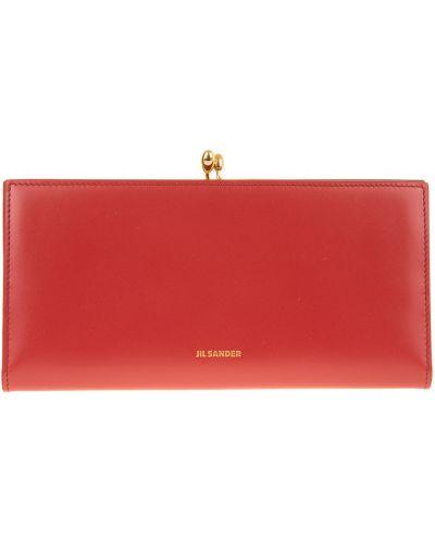Czerwony portfel Jil Sander