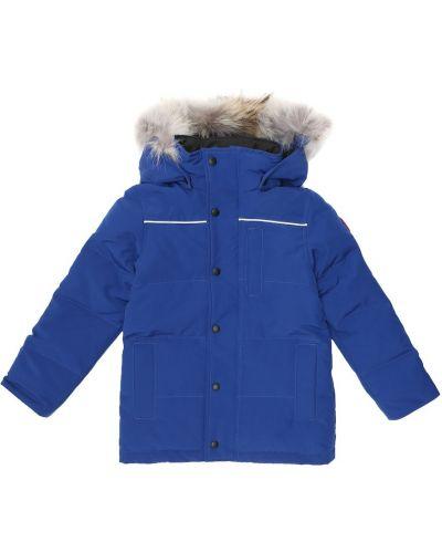 Bawełna puchaty niebieski światło park Canada Goose Kids