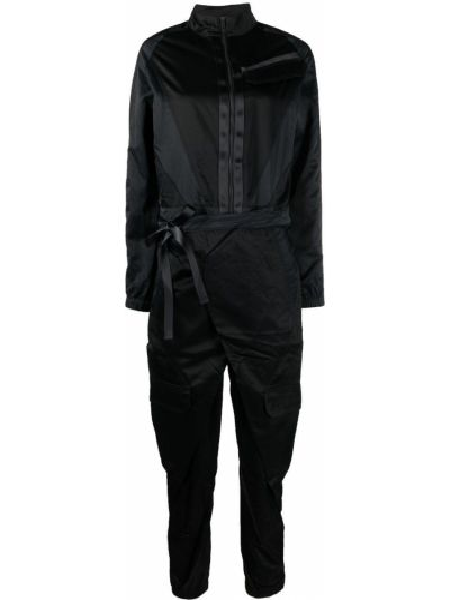 Czarny kombinezon z długimi rękawami z nylonu Nike