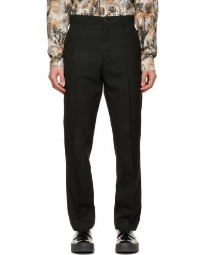 Czarne spodnie z paskiem z wiskozy Acne Studios