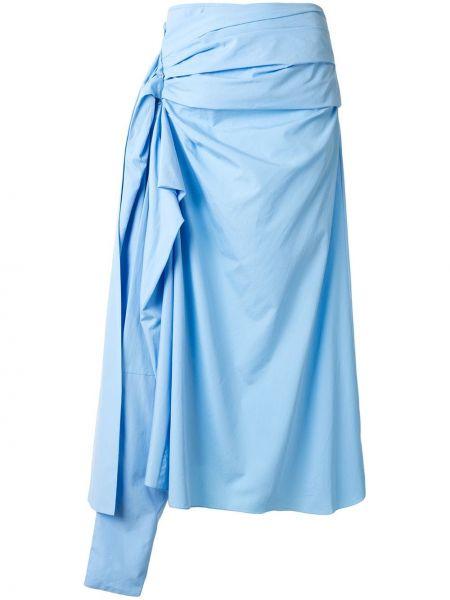 Spódnica asymetryczna - niebieska Marni