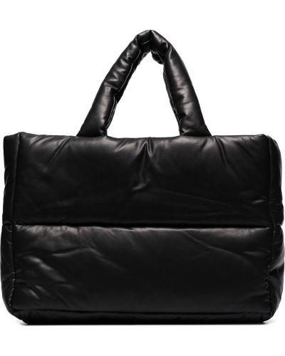 Черная кожаная сумка Stand Studio