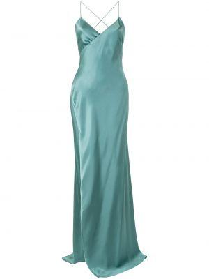 Шелковое платье с V-образным вырезом на молнии без рукавов Michelle Mason