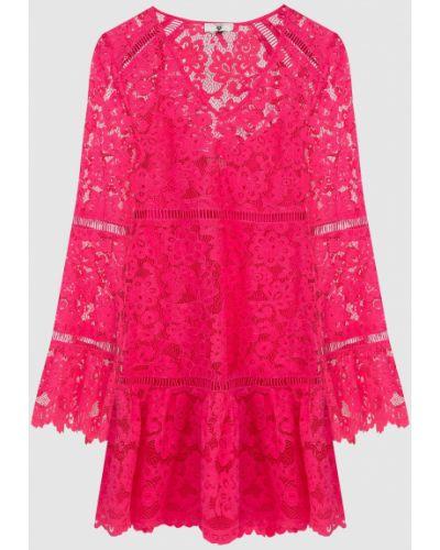 Ажурное розовое платье мини Twin-set