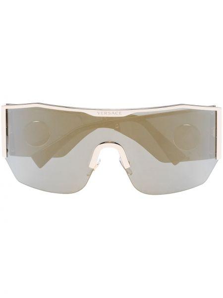 Черные солнцезащитные очки металлические Versace Eyewear