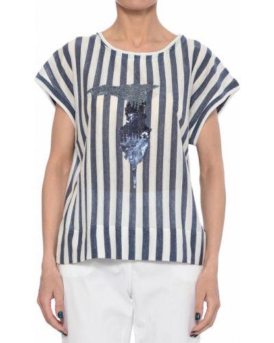 Синяя футбольная футболка Trussardi Jeans