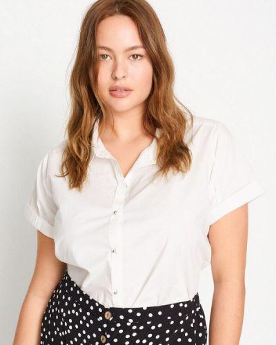 Белая блузка с коротким рукавом с короткими рукавами Violeta By Mango