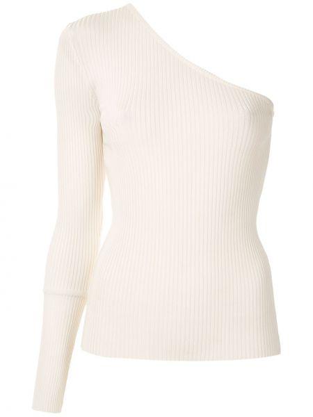 Белая блузка из вискозы на одно плечо Reinaldo Lourenço