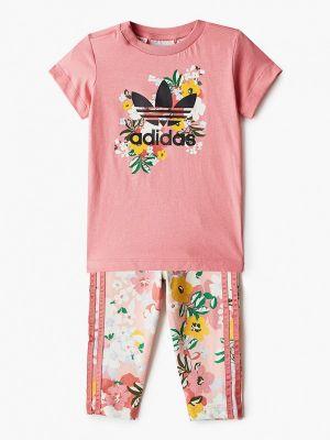 Костюмный розовый спортивный костюм Adidas Originals