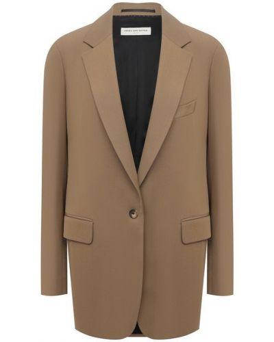 Шерстяной пиджак - бежевый Dries Van Noten