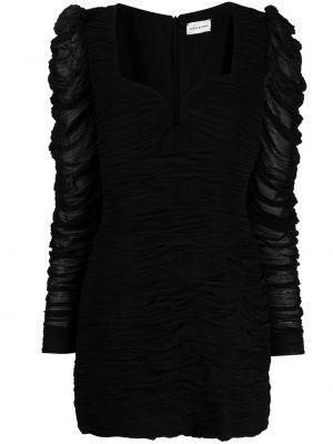 С рукавами черное платье мини с оборками Magda Butrym