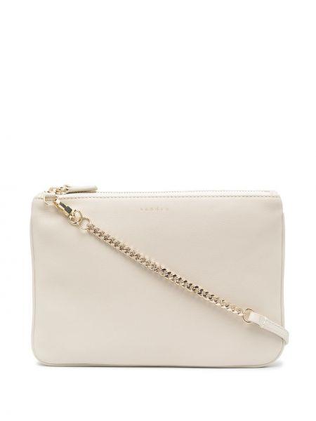 Кожаная сумка - белая Sandro Paris