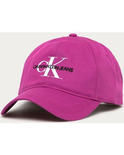 Różowy kapelusz materiałowy Calvin Klein Jeans