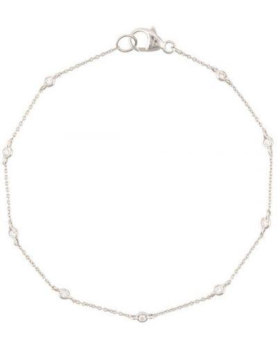 Золотой браслет с бриллиантом белый Dana Rebecca