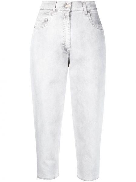 Серые зауженные укороченные джинсы на молнии Fabiana Filippi
