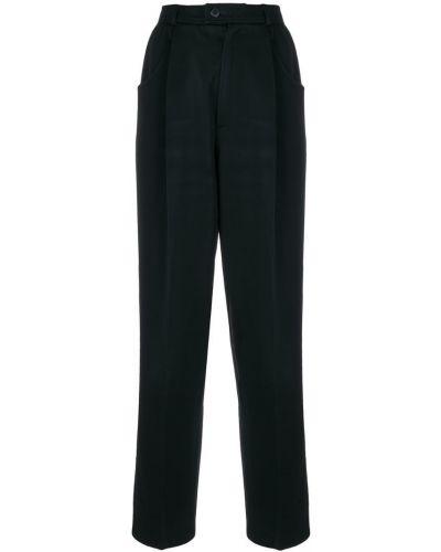 Брюки с карманами - черные Yves Saint Laurent Vintage