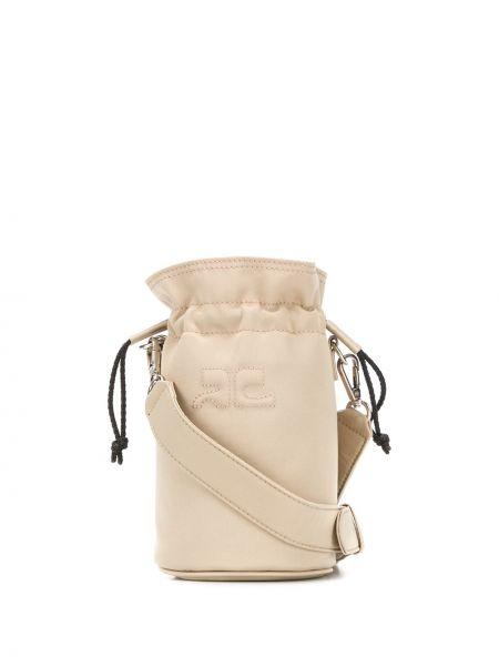 Beżowa torebka pikowana Courreges