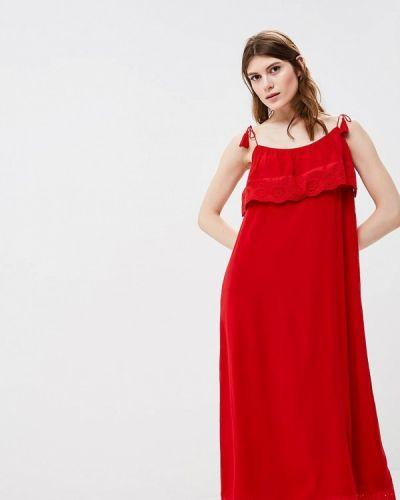 Красный сарафан прямой Zarina