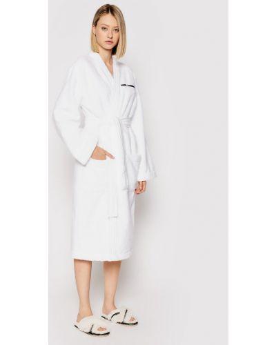 Biały szlafrok Karl Lagerfeld