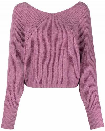 Джемпер с вырезом - розовый Tela