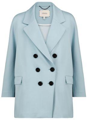 Синий классический пиджак двубортный из вискозы Dorothee Schumacher