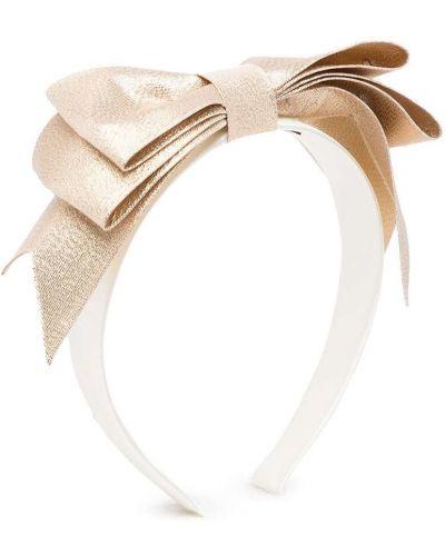 Białe złote opaska do włosów Hucklebones London