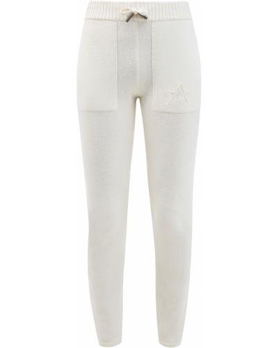 Шерстяные вязаные белые брюки Lorena Antoniazzi