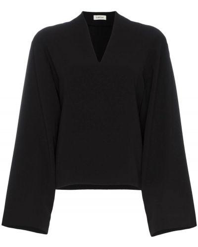 Блузка с декольте черная Toteme