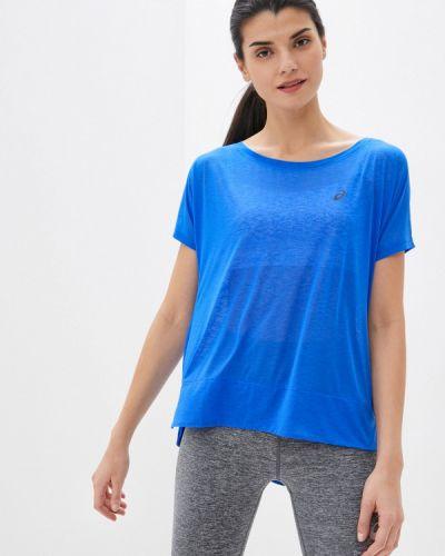 Синяя спортивная футболка Asics