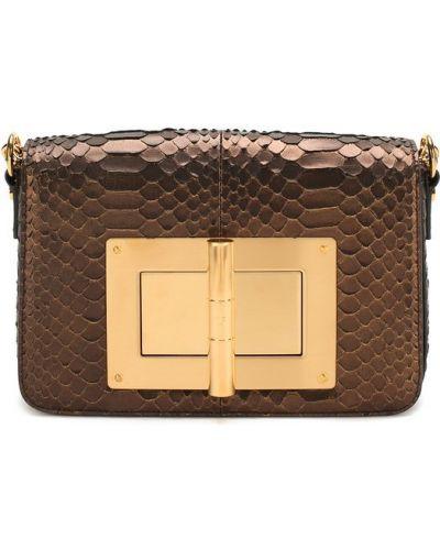 Кожаный сумка из кожи питона Tom Ford